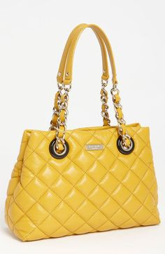 Kate Spade Gold Coast Maryanne Small Quilted Leather Shopper in Yellow (butternut)