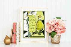 Olive Oyl Art Poster Printable Quote Digital Collage Print #roosterdigitals #bogo