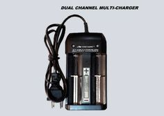 DUAL CHANNEL RAPID CHARGER FOR MULTIPLE TYPES OF 3.7v LITHIUM-ION BATTERIES