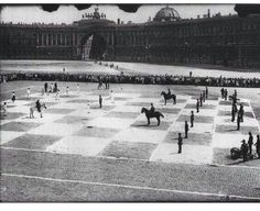 A human game of chess 1924 #gaming #games #gamer #videogames #videogame #anime #video #Funny #xbox #nintendo #TVGM #surprise