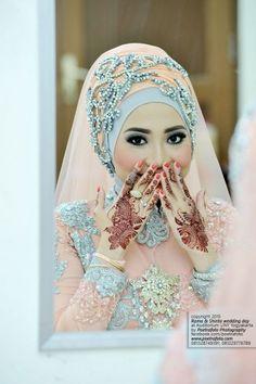 Foto Baju Gaun Makeup Rias Henna Pengantin Muslimah