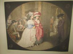 Antique mezzotint print from 1908 by T. Hamilton Crawford London. Carlisle House
