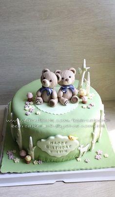 Teddy Bear Fondant Cake Topper by Bearcaketopper on Etsy