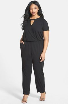 Vince Camuto has some outstanding pieces, @Nordstoms or @Bloomingdales Vince Camuto Keyhole Detail Surplice Jumpsuit (Plus Size) available at #Nordstrom