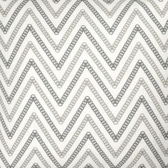Circle Chevron Fabric in Charcoal/Gray from @COCOCOZY #fabric #linen #black #gray