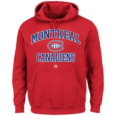 Montreal Canadiens Red Hood With Drawstring Heart And Soul Hoodie