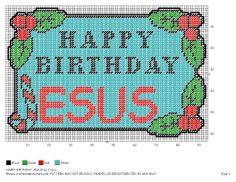 Happy Birthday Jesus Plastic Canvas Christmas, Plastic Canvas Crafts, Plastic Canvas Patterns, Plastic Craft, Christmas Perler Beads, Christmas Cross, Xmas, Tissue Box Covers, Tissue Boxes