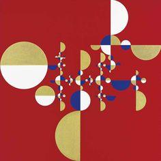 Gabriel Orozco (Mexican, b. 1962), Samurai Tree (Invariant Red 3), 2005. Acrylic on canvas, 120 x 120 cm.