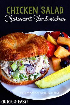 Chicken Salad Croissant Sandwiches #Sandwitches #BuffaloBucksCoffee