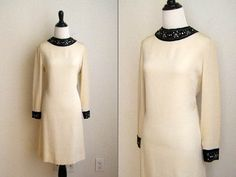 1970's Ivory with Beaded Neckline Wedding by NicaChicaVintage, $65.00