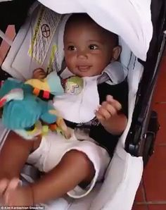 The winner: Saint was the victor in this Snapchat battle and he didn't even have to get out of his stroller