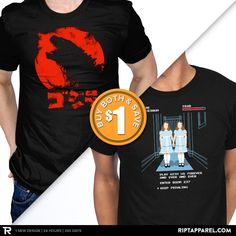 """Get """"Red Lizard"""" from artist zerobriant and """"All Play and No Work"""" from artist mikehandyart today only, May 8, for $10 at RIPT Apparel."""