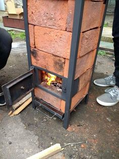 Wonderful Ideas For Wooden Pallet Grills And Furniture For Your Garden Outdoor Oven, Outdoor Fire, Outdoor Cooking, Bbq Grill, Grilling, A Frame Cabin, Stove Fireplace, Rocket Stoves, Wood Burner