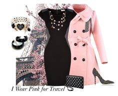 Pink and Black by striplingmom-1 on Polyvore featuring polyvore, fashion, style, VILA, Oscar de la Renta, Merona, Betsey Johnson, Aime, clothing, contest, breastcancer and charity