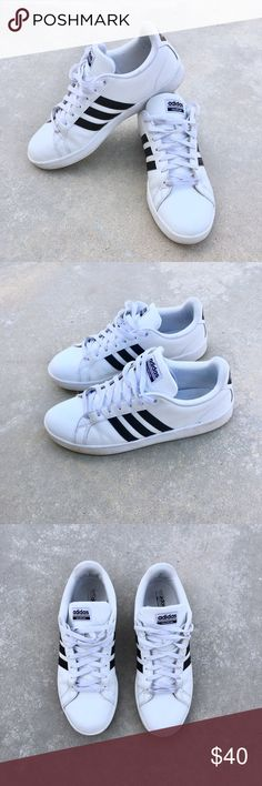 • ADIDAS NEO ☁️ cloudfoam • Classic adidas NEO cloudfoam black and white sneakers. A mans stable for any street style weekend outfit. In very good condition 👟 adidas Shoes Sneakers