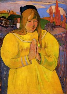 Paul Gauguin, Young Christian Girl, 1894 on ArtStack #paul-gauguin #art
