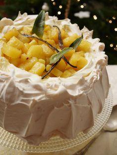 Pavlova à l'ananas rôti à la vanille - Blog de cuisine créative, recettes / popotte de Manue