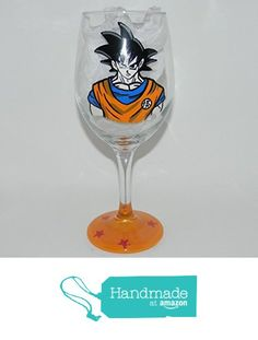 Goku wine glass from Custom Creations by Danielle LLC https://www.amazon.com/dp/B0163FX7OG/ref=hnd_sw_r_pi_dp_YNiVybR2AJBK4 #handmadeatamazon