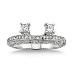 instead of a wedding band a solitaire enhancer...