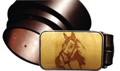 INTERCHANGEABLE belt buckle, HORSE magnetic buckle, Equestrian Wooden buckle, Laser etched wooden belt buckle, mens buckles
