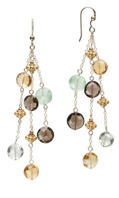 Jewelry Design - Earrings with Citrine Gemstone Beads and Smoky Quartz Beads - Fire Mountain Gems and Beads