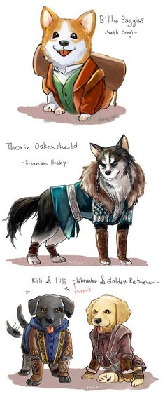 The Hobbit http://kadeart.tumblr.com/post/41448306066/im-a-dog-mania-so-i-just-think-if-middle