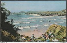 Treyarnon Bay near Padstow, Cornwall, c.1960s - Overland Views Postcard