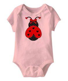 Pink Ladybug Short-Sleeve Bodysuit - Infant