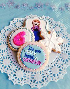 Disney frozen cookies,princess anna