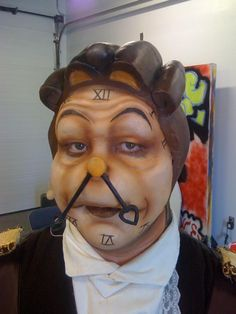 Cogsworth makeup for Beauty & the Beast