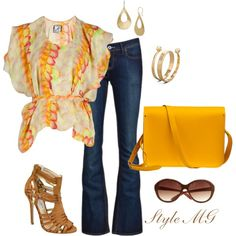 Flutter and Flare, created by romigr99 on Polyvore