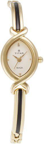 Titan Women's 2251YM03 Raga Jewelry Inspired Gold-Tone Watch -