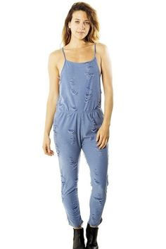 65244550aa Ladies fashion distress overall jumpsuit romper  fashion  clothing  shoes   accessories  womensclothing