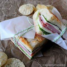 Pressed Picnic Sandwich- will be making plenty of these this summer-YUM!   Drink: Cold Bottle of Pellegrino   Chips: thinking of either POPchips or the SpecialK kind