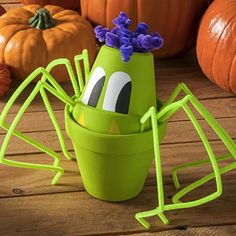 make your own creepy-cute flowerpot spider with supplies from #blitsy - on sale now! #blitsybuys