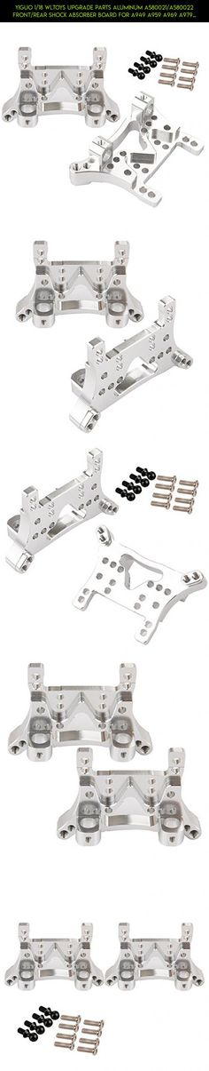 Yiguo 1/18 WLtoys Upgrade Parts Aluminum A580021/A580022 Front/Rear Shock Absorber Board for A949 A959 A969 A979 K929 Silver 2pcs #parts #plans #fpv #products #racing #kit #drone #parts #tech #shopping #camera #gadgets #wltoys #upgrade #technology