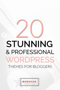 Want to spruce up your blog's design? Check out these feminine WordPress themes made to give your site a more professional, organized look. Click through to find the perfect theme for your blog - no matter your niche!