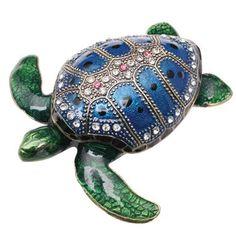Sea Turtle Enamel Box