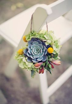 Wedding chair succulent chair