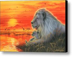 Heartbeat Of Savanna Canvas Print / Canvas Art By Kentaro Nishino