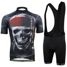AOGDA Brand Pirate Clothing Ropa Ciclismo Bicycle Sportswear Mountain Bike  Cycling Bib Short Sleeve Jersey Short Set For Men 5d15b3318