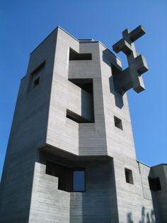 Holy Cross Church in Chur, Switzerland. Designed by Basel born Swiss architect Walter Förderer.