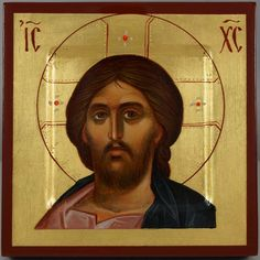 Beautiful hand-painted miniature Orthodox icon of Jesus Christ Pantocrator (hand-engraved)  #Byzantineicons