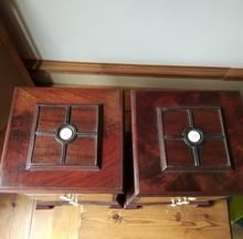 Load image into Gallery viewer, Pair of Miniature Mahogany Chest of Drawers Wood Drawers, Chest Of Drawers, Drawer Dividers, Dog Bowls, Miniatures, Pairs, Cabinet, Antiques, Storage