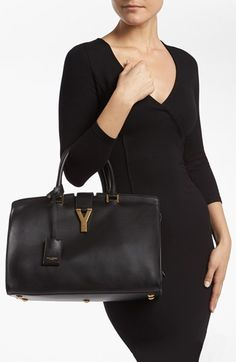Saint Laurent 'Ligne Y' Leather Satchel, Medium | Nordstrom $2,695