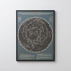 Constellations Map Framed Art | Art | Accessories-$120.00
