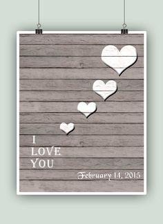 Love poster. I love you. Te quiero. Je t'aime. Ich by PrintCorner