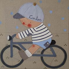 cuadro niño en bicicleta - Buscar con Google