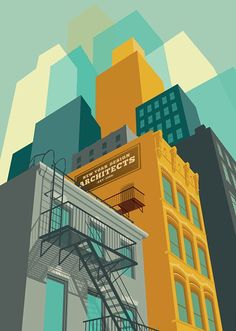Remko Heemskerk (b. 1976, Netherlands), 'NYC Architectural Illustration', (2010).