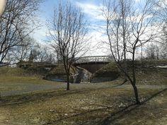 Some small bridge in Oulu.